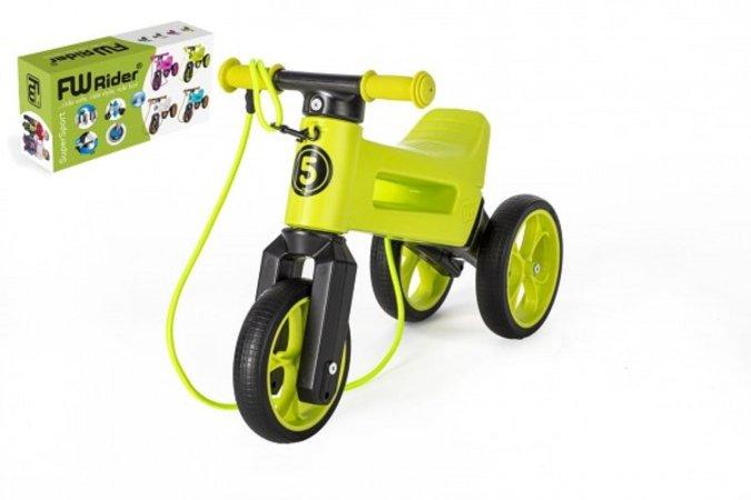 Teddies Odrážedlo FUNNY WHEELS Rider SuperSport 2v1 - zelené (v krabici)