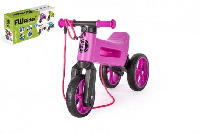 Teddies Odrážedlo FUNNY WHEELS Rider SuperSport 2v1 - fialové (v krabici)