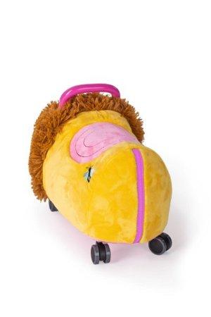 Teddies Odrážedlo FUNNY WHEELS Rider Ride-On lvíček plyšový - 50 cm - růžový