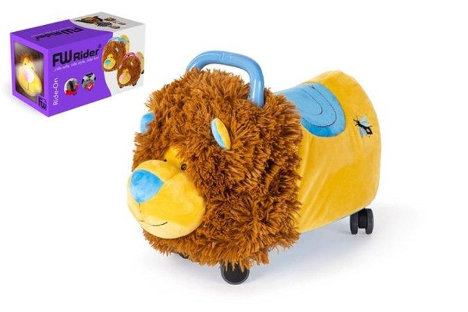 Teddies Odrážedlo FUNNY WHEELS Rider Ride-On lvíček plyšový - 50 cm - modrý