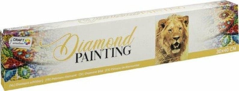 Alltoys CZ Malování pomocí kamímků Diamond - Lev - 30 x 40 cm