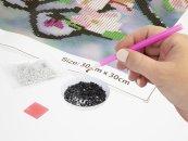 Alltoys CZ Malování pomocí kamímků Diamond - Ptáček - 30 x 30 cm