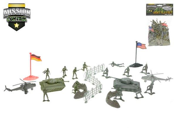Mikro trading Sada vojáci s mapou - dvě vojska
