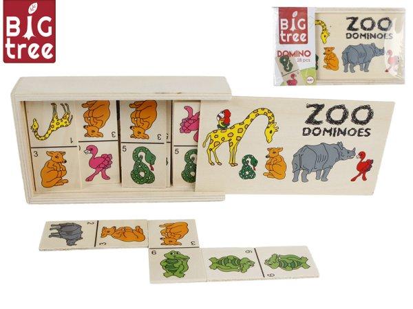 Mikro trading Domino dřevěné zvířátka - 28 ks