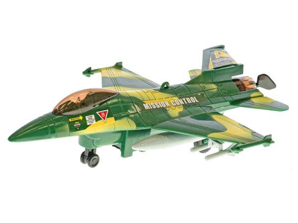Mikro trading Stíhačka vojenská na provázku - létající